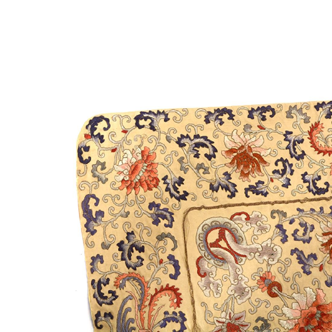 An Embroidered Square Panel, 19th Century - 3