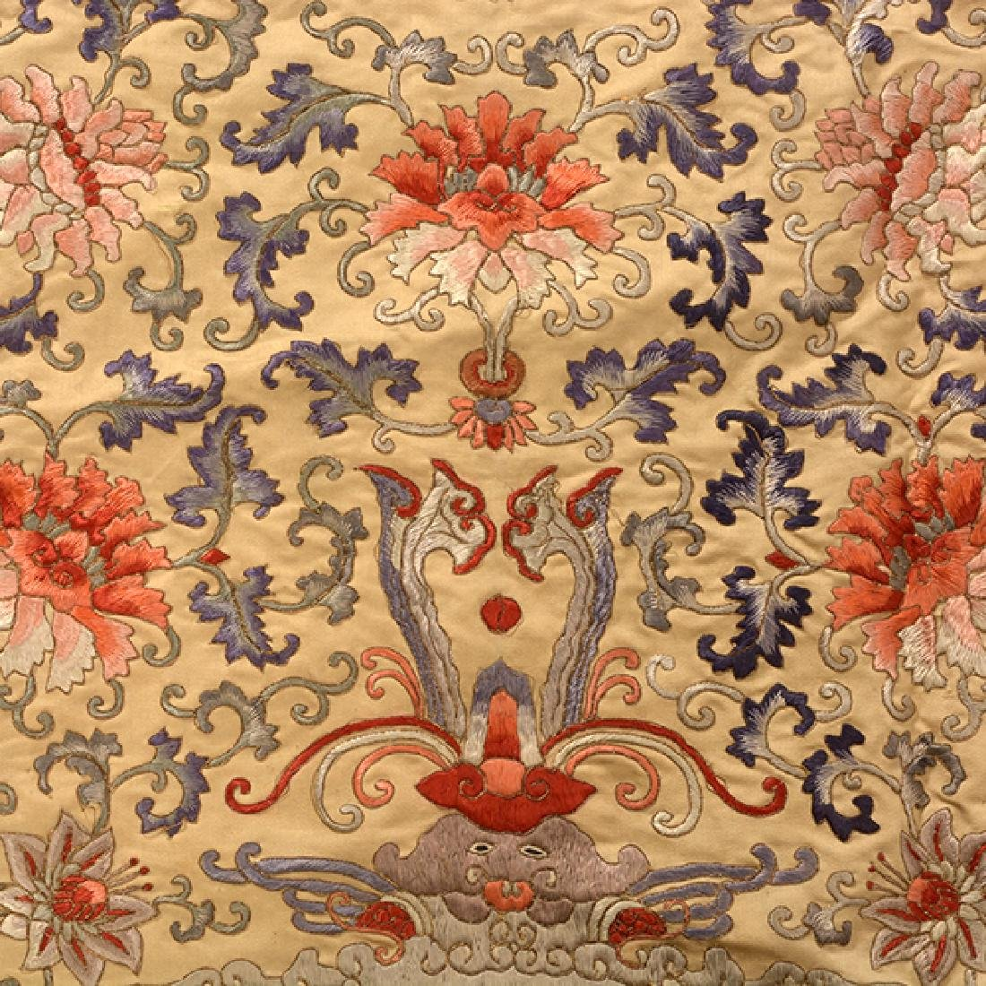 An Embroidered Square Panel, 19th Century - 5