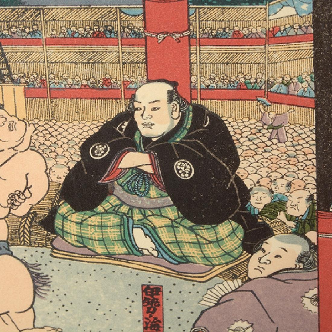 Utagawa Yoshiiku and Toyokuni: Two Woodblocks - 9