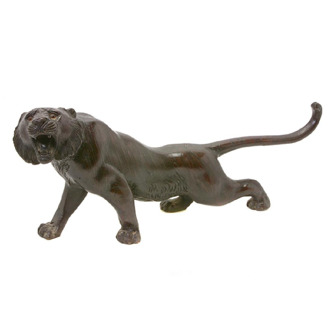 Japanese Bronze Model of A Tiger, Early 20th Century