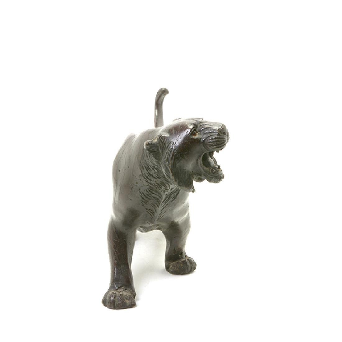 Japanese Bronze Model of A Tiger, Early 20th Century - 2