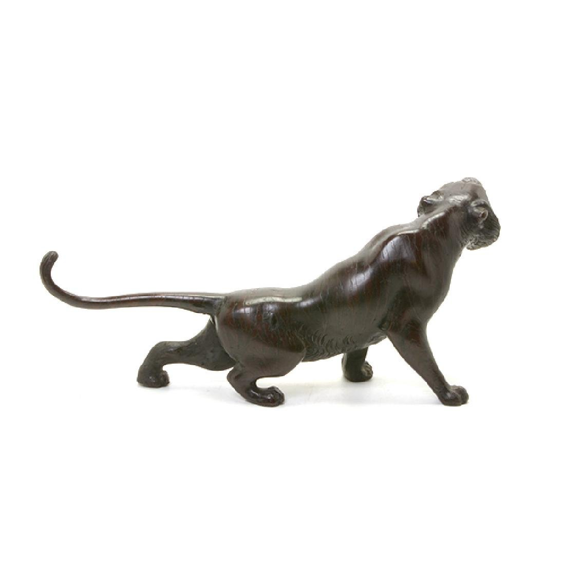 Japanese Bronze Model of A Tiger, Early 20th Century - 3
