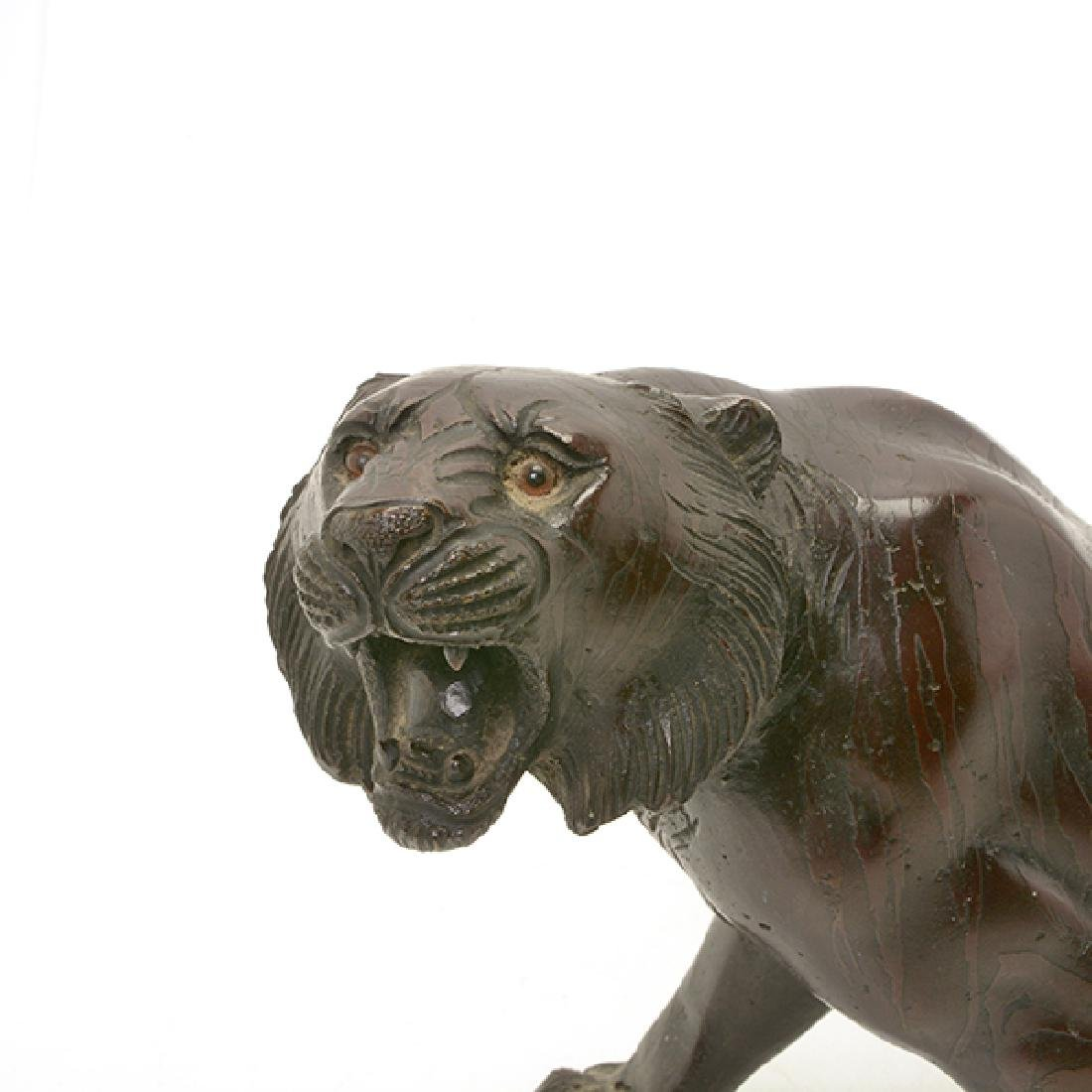 Japanese Bronze Model of A Tiger, Early 20th Century - 6