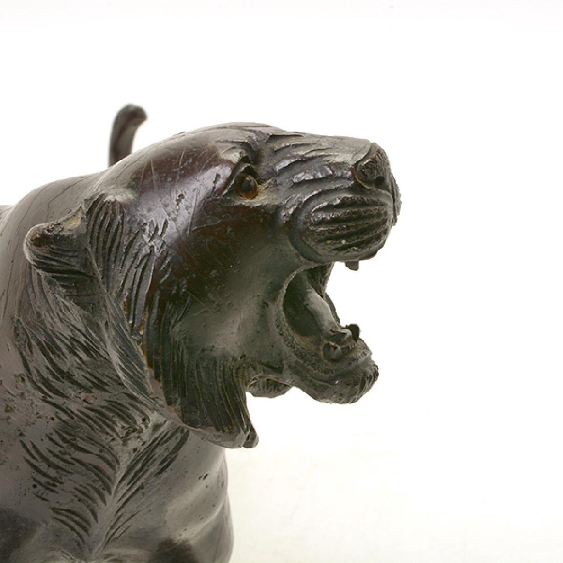 Japanese Bronze Model of A Tiger, Early 20th Century - 8