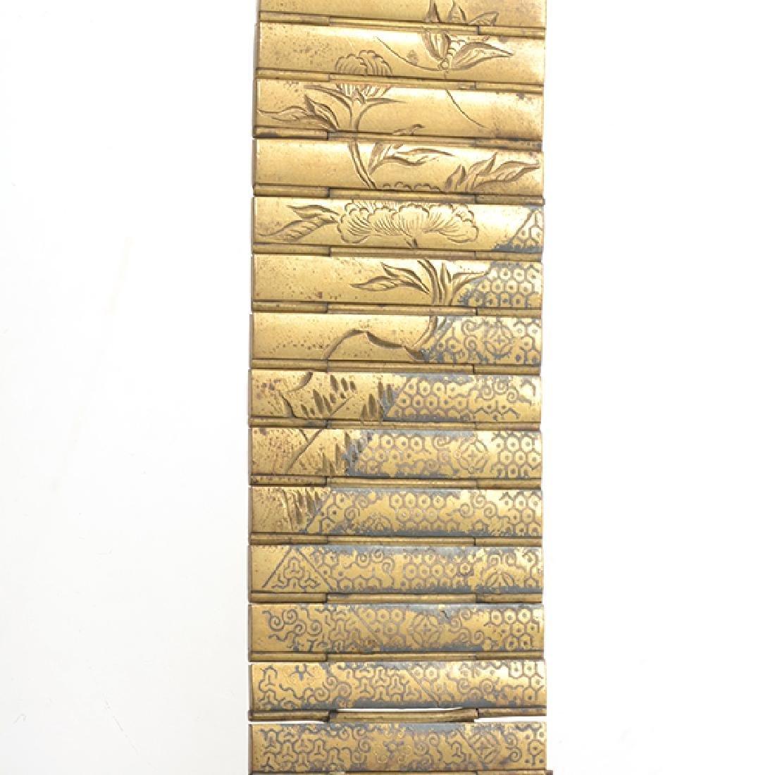 Two Metal Netsuke Applique Chains, Meiji Period - 6