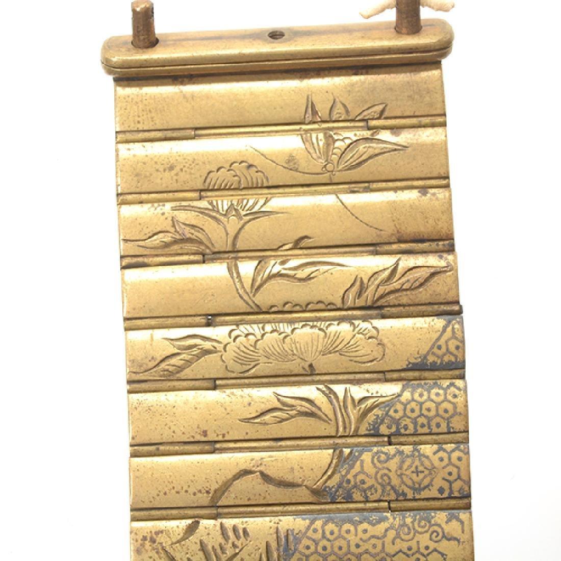 Two Metal Netsuke Applique Chains, Meiji Period - 7
