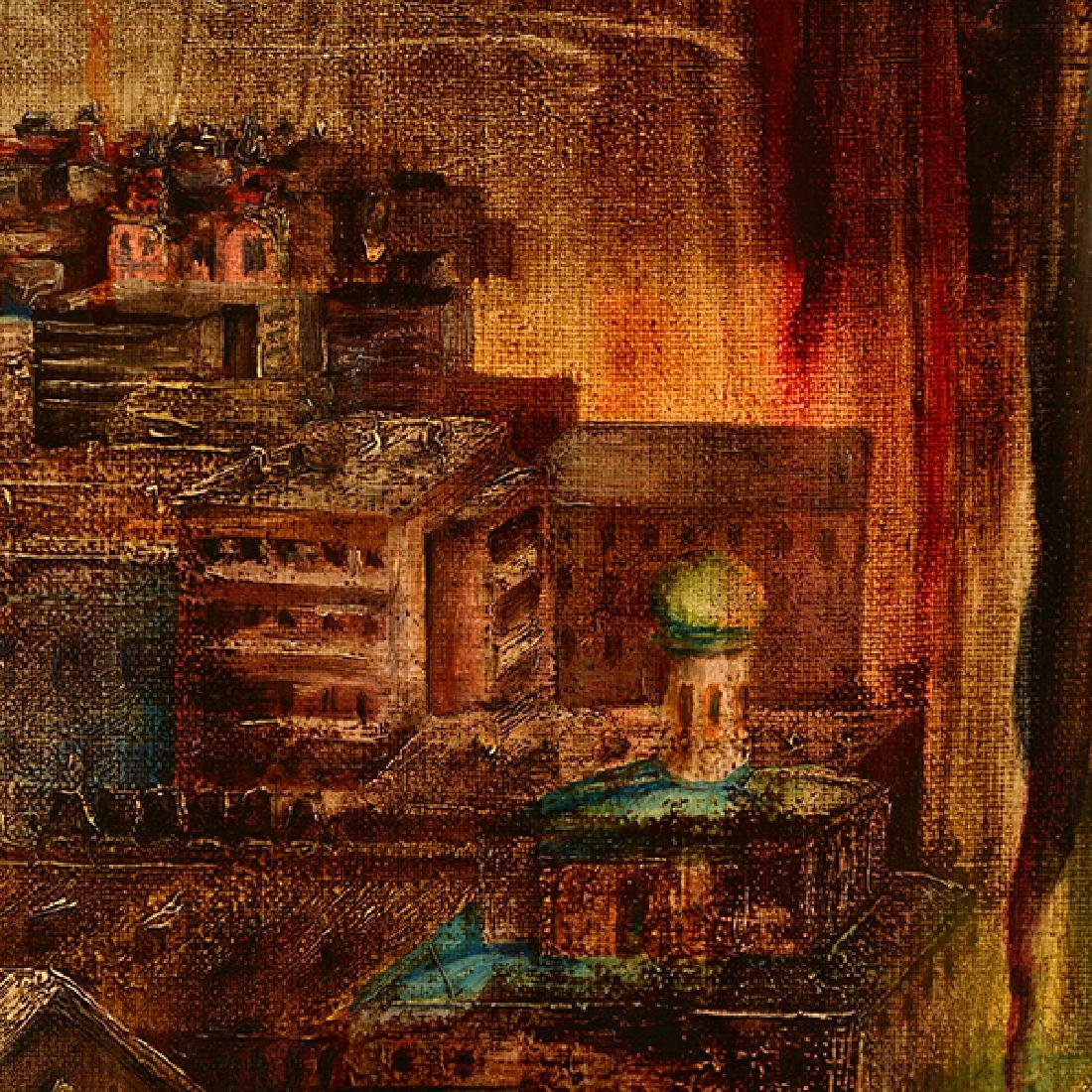 "Russian School ""Surrealist Landscape"" oil on canvas - 2"