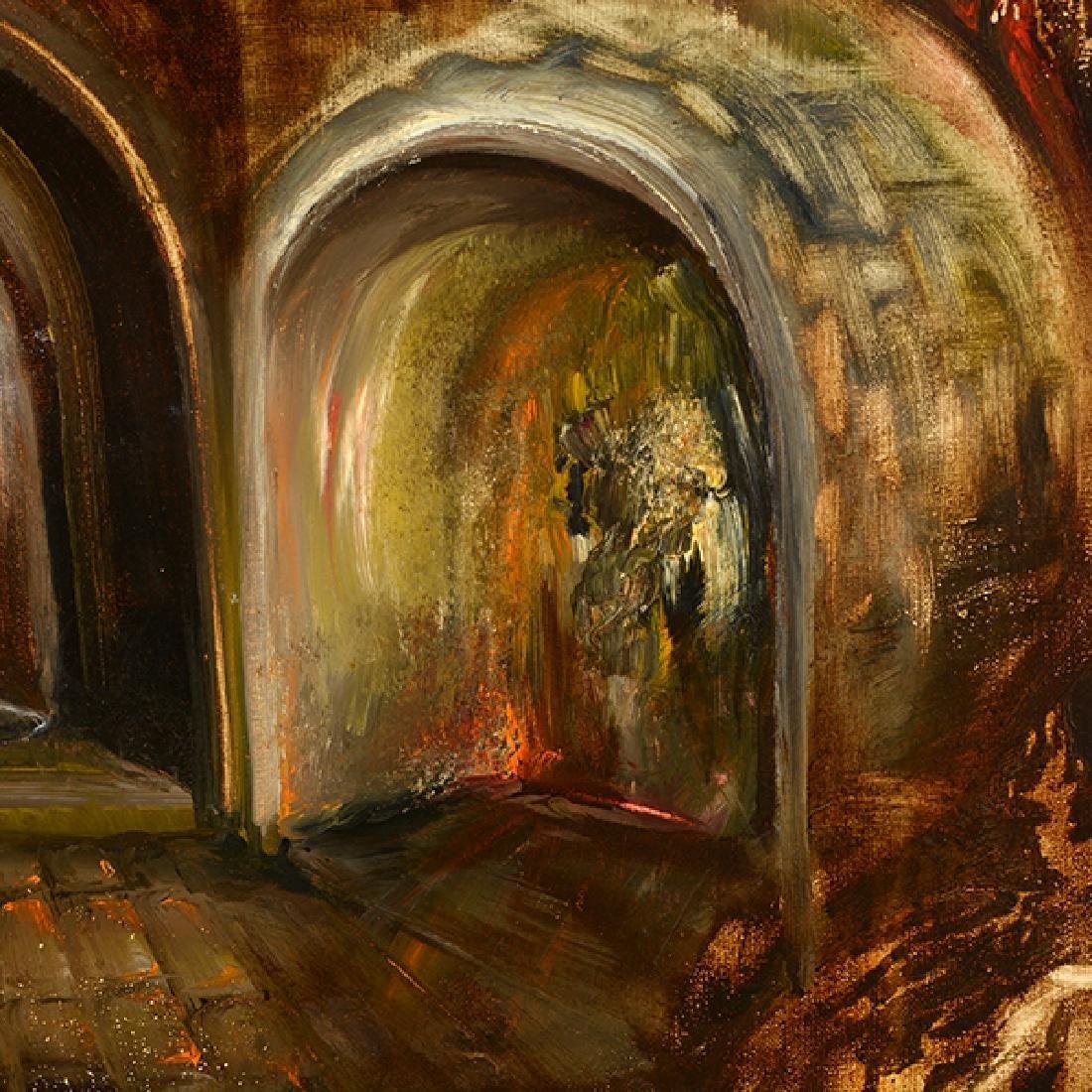 "Russian School ""Surrealist Landscape"" oil on canvas - 5"