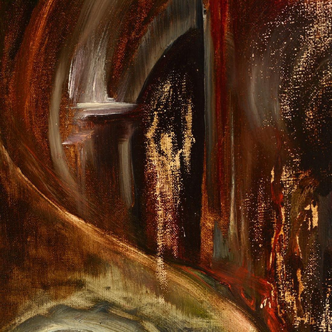 "Russian School ""Surrealist Landscape"" oil on canvas - 6"