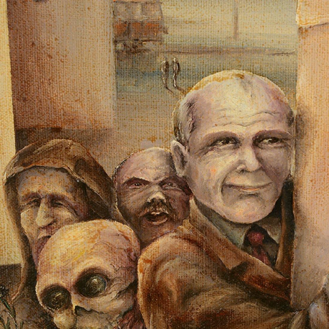 "Russian School ""Adoption"" oil on canvas - 2"