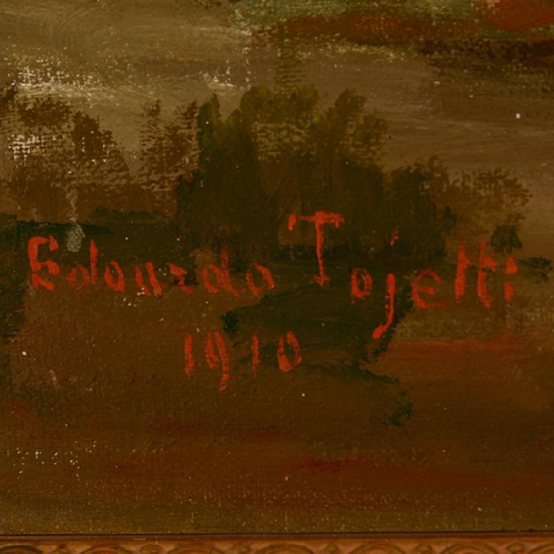 "Eduardo Tojetti ""Arab on a Horse"" oil on board - 2"