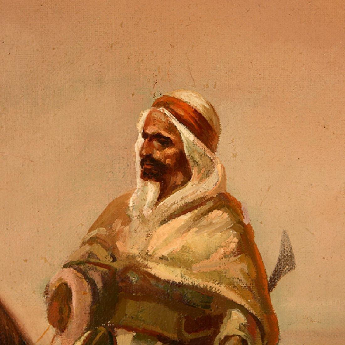 "Eduardo Tojetti ""Arab on a Horse"" oil on board - 3"