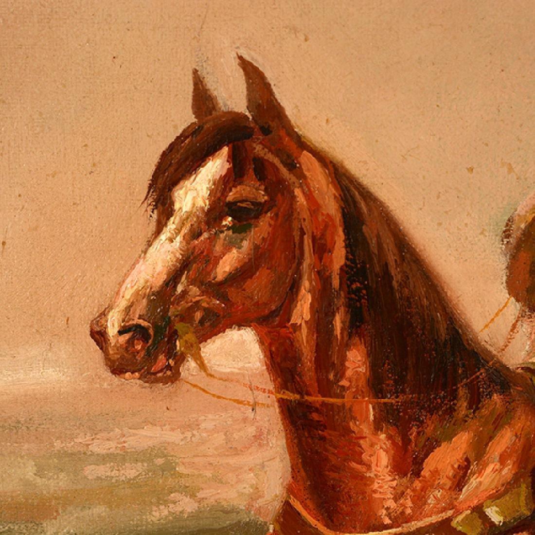 "Eduardo Tojetti ""Arab on a Horse"" oil on board - 4"