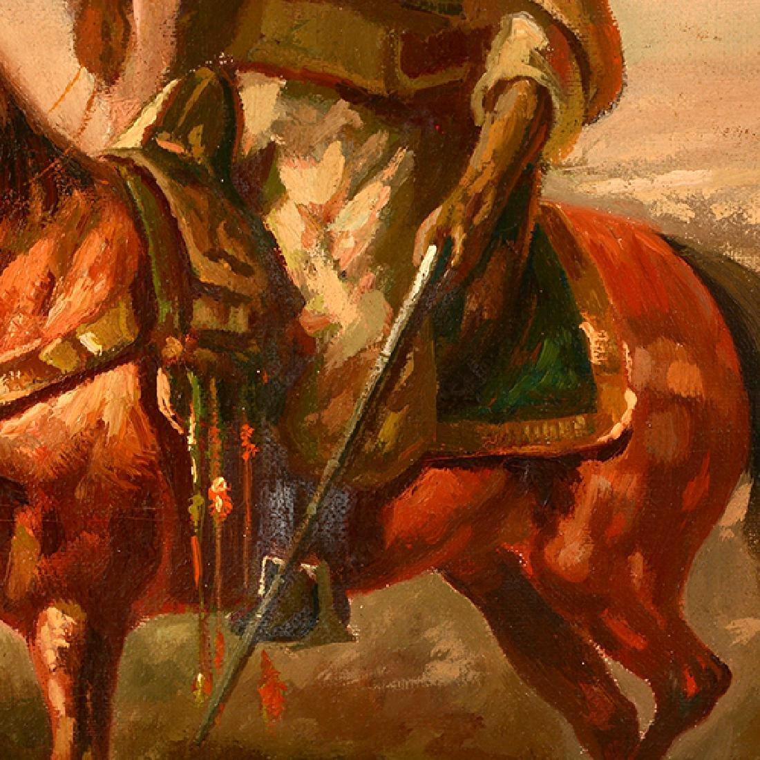 "Eduardo Tojetti ""Arab on a Horse"" oil on board - 5"