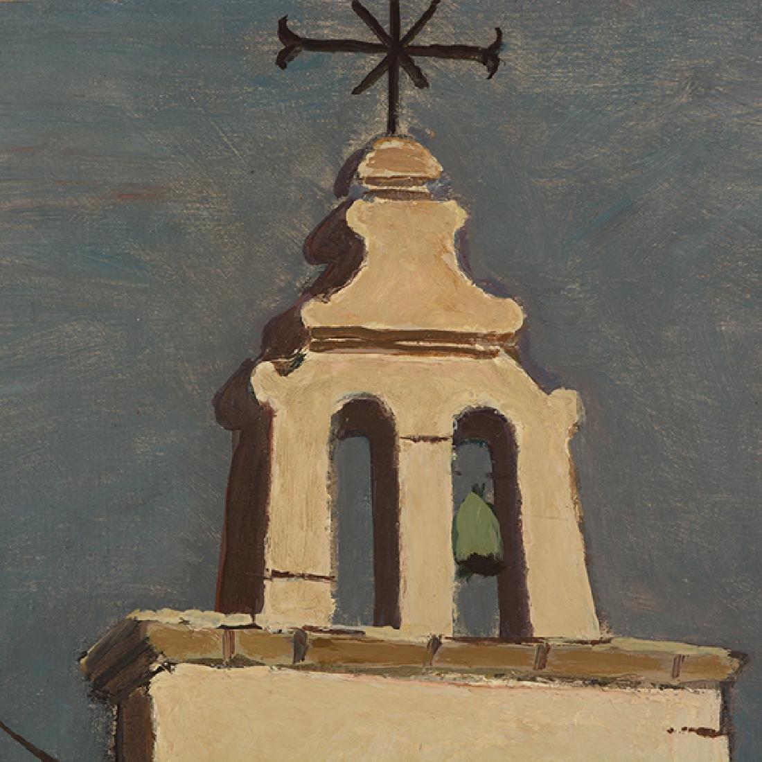 """Hermann Geiseler """"Alte Kirche auf Ischia (Old Church on - 4"""