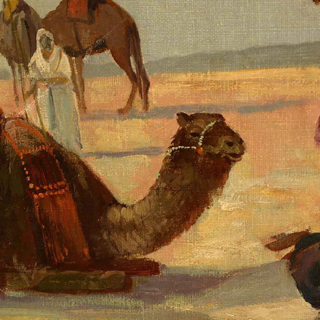 "French-Orientalist School ""Desert Scene with Figures - 6"