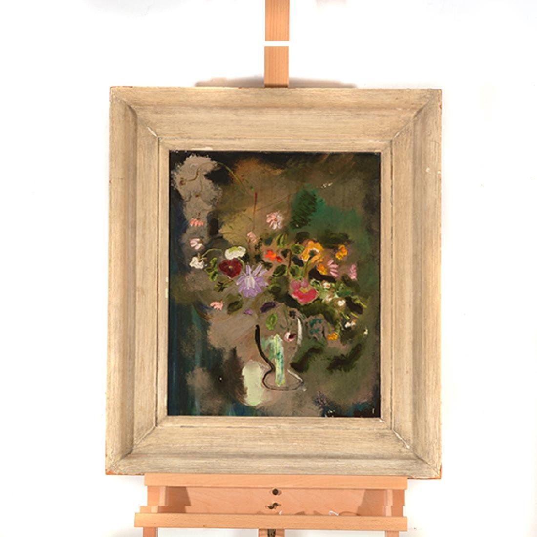 "Sterling Strauser ""Goblet of Flowers"" oil on board - 5"