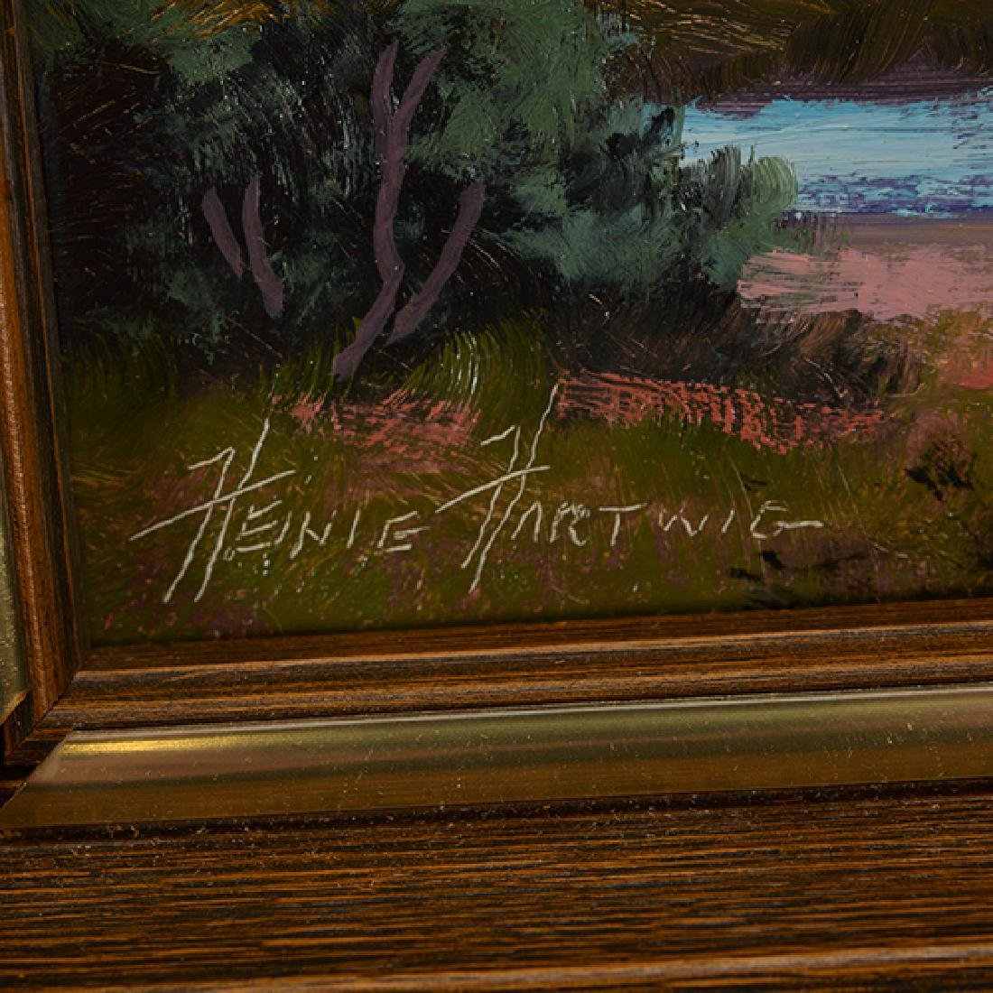 "Heinie Hartwig ""Yosemite Valley"" oil on masonite - 2"