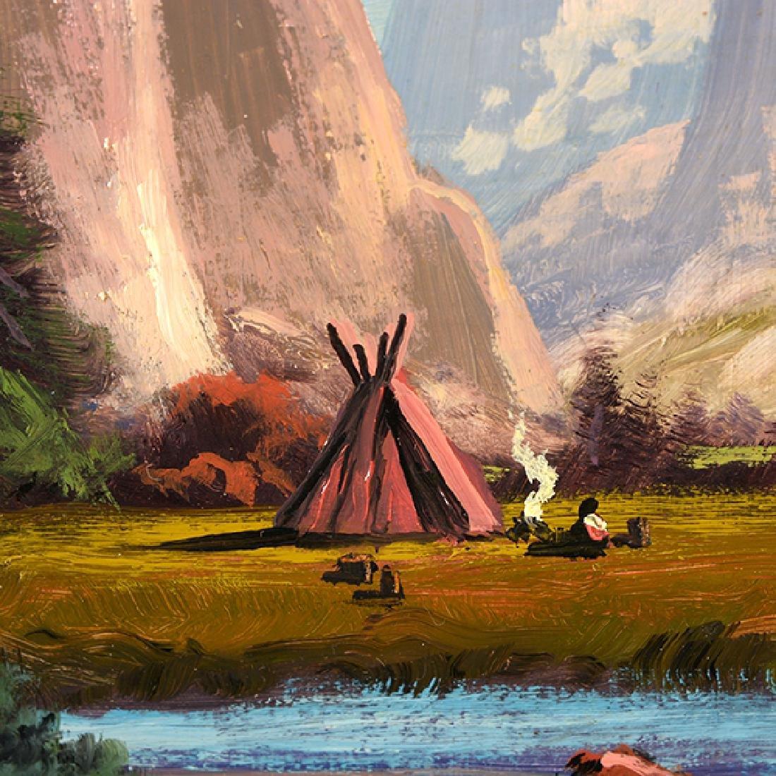 "Heinie Hartwig ""Yosemite Valley"" oil on masonite - 3"