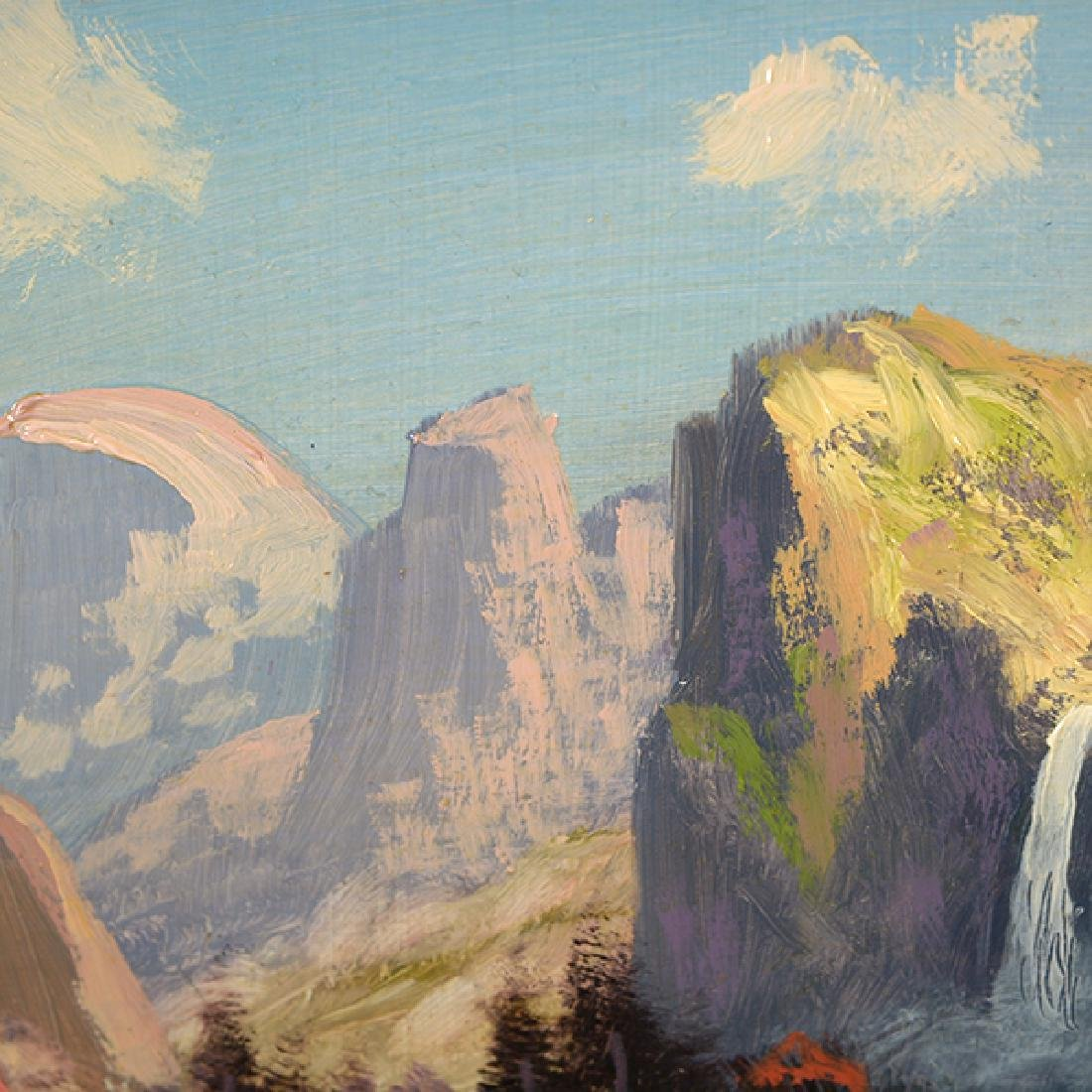"Heinie Hartwig ""Yosemite Valley"" oil on masonite - 4"
