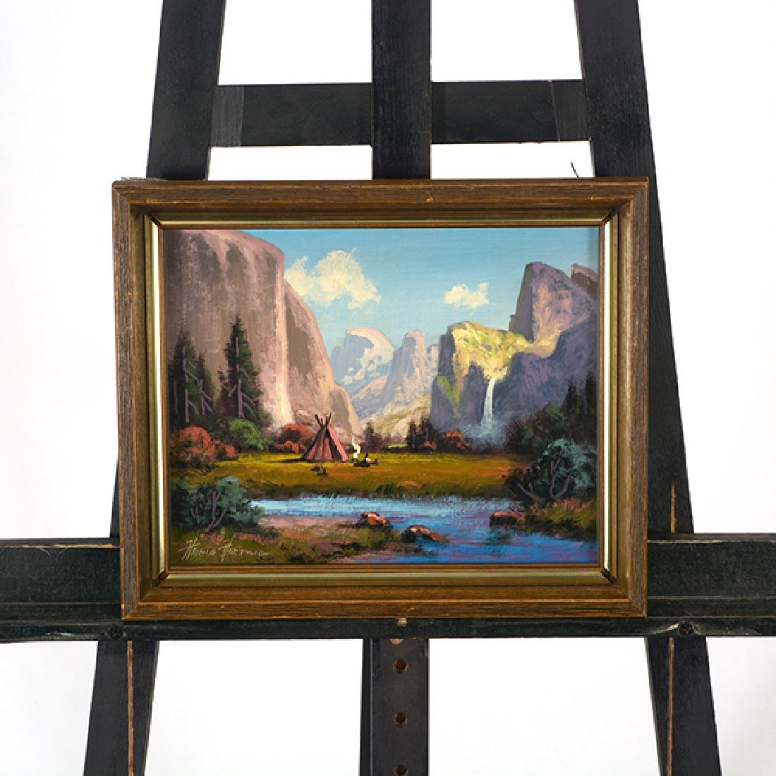 "Heinie Hartwig ""Yosemite Valley"" oil on masonite - 6"