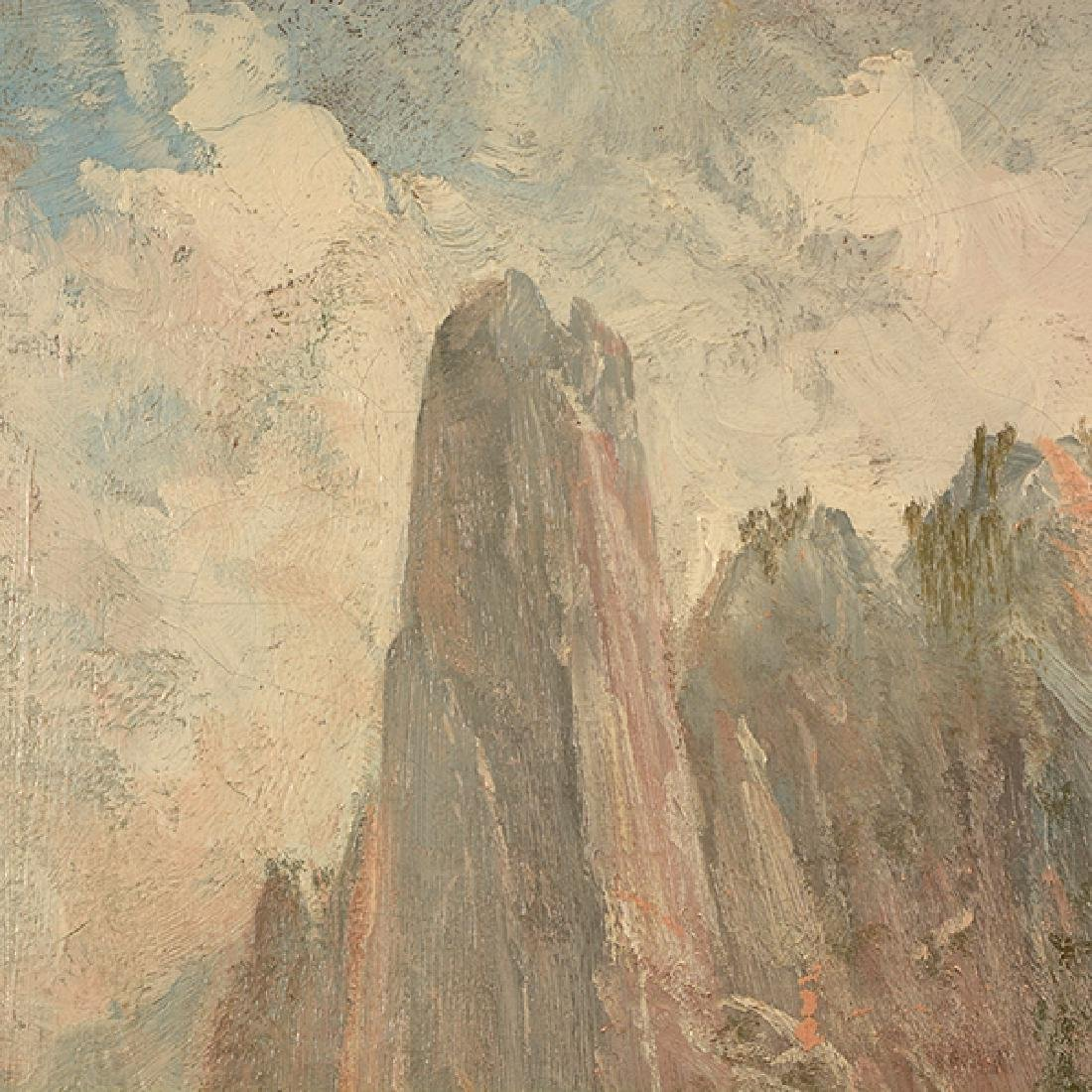 """After Thomas Hill """"Yosemite Landscape"""" oil on canvas - 3"""
