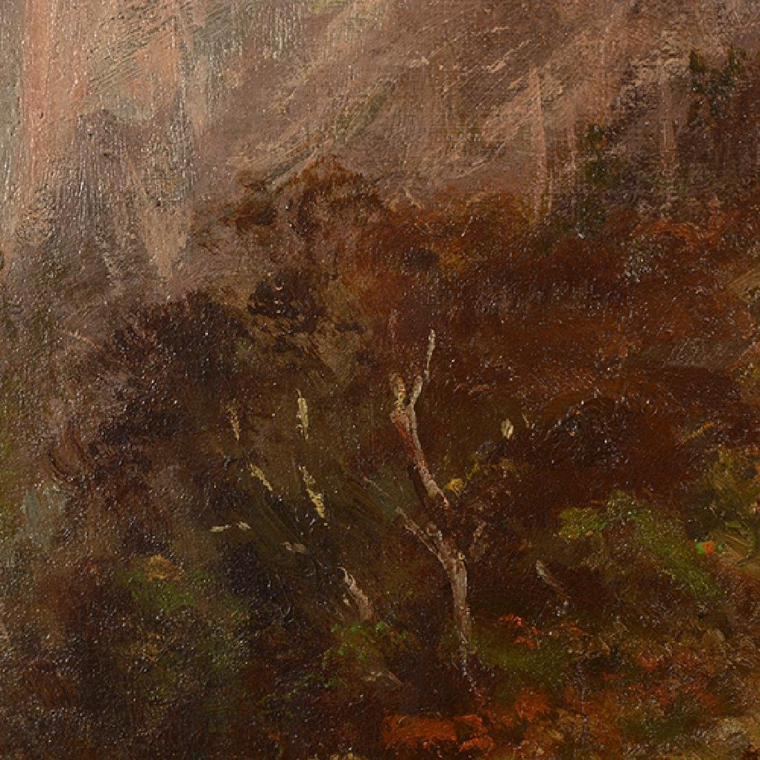 """After Thomas Hill """"Yosemite Landscape"""" oil on canvas - 4"""