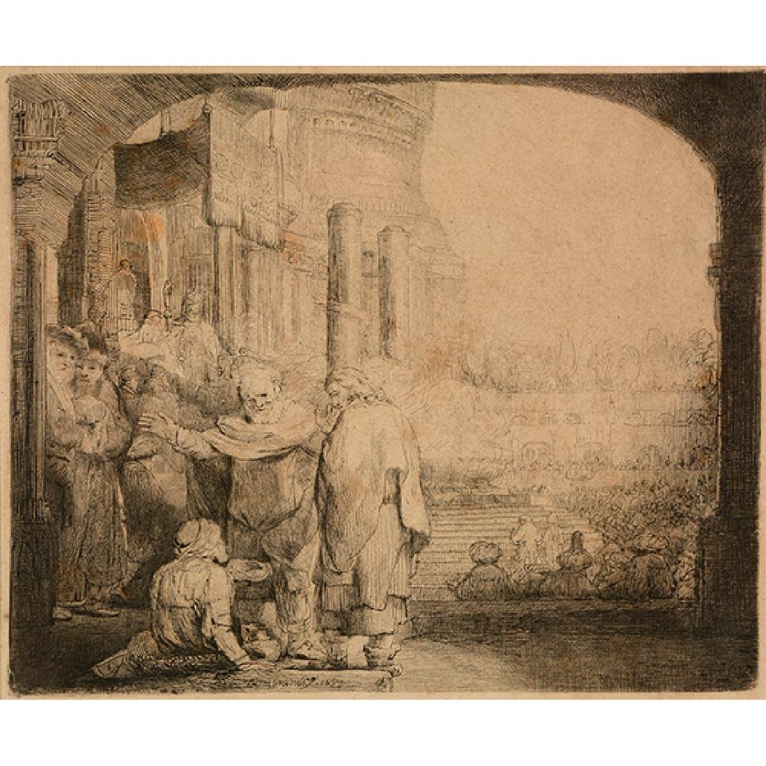 "Rembrandt ""John Healing the Cripple at the Gate of a"