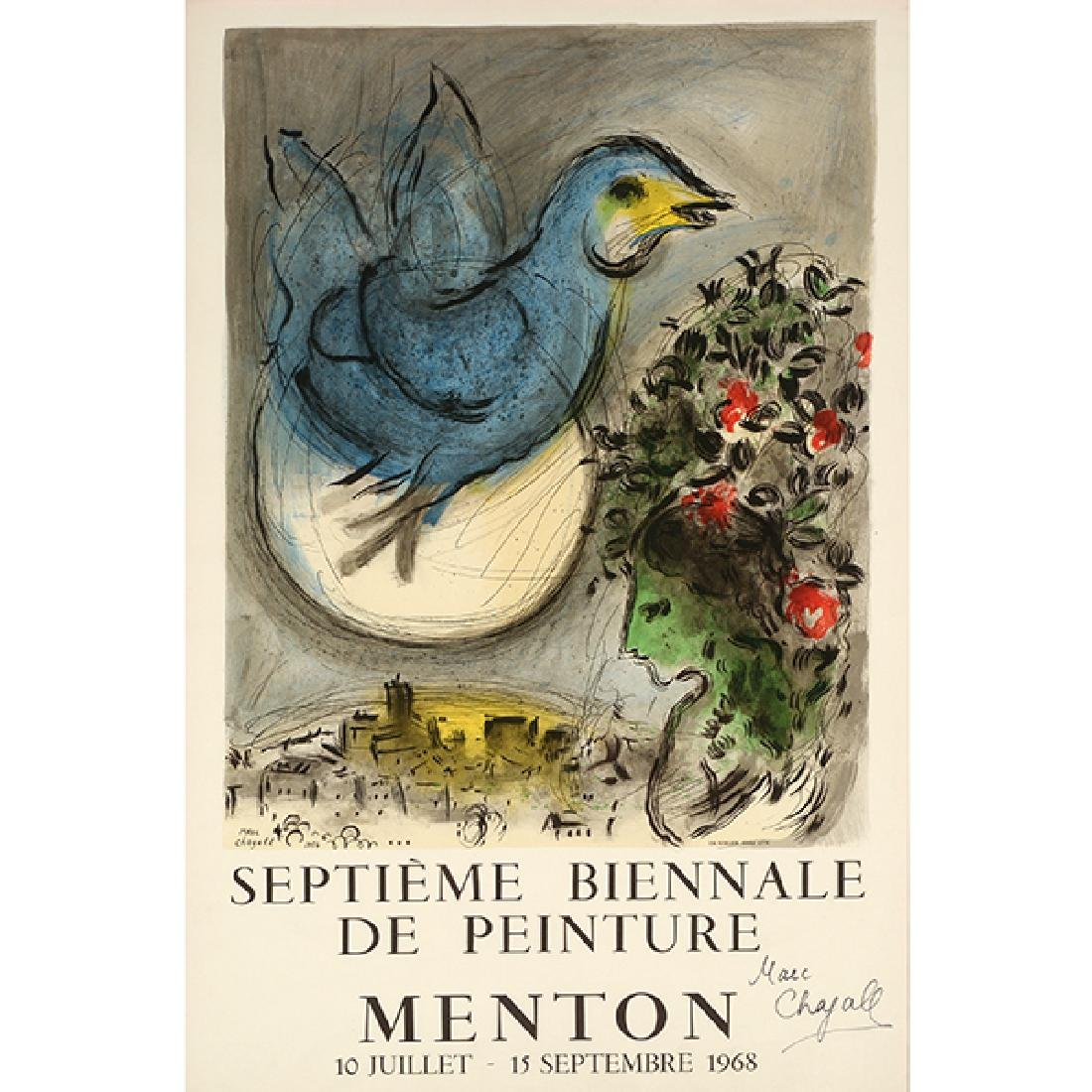 "Marc Chagall """"L'Oiseau Bleu- SeptiËme Biennale de"