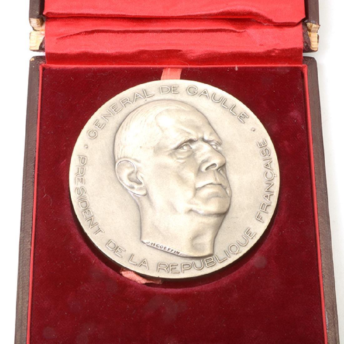 Nine French Commemorative Bronze Medallions - 4