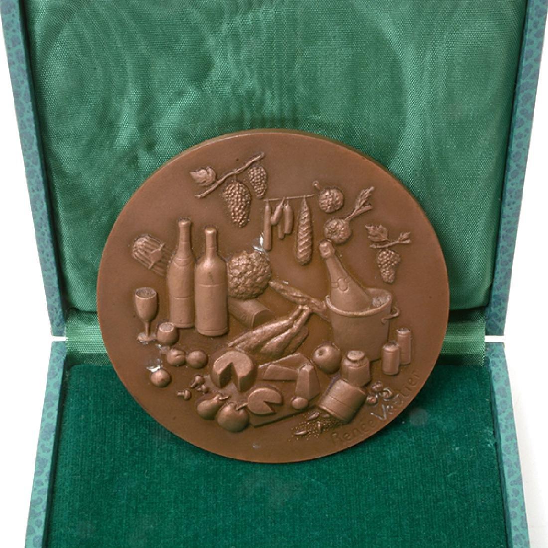Nine French Commemorative Bronze Medallions - 5