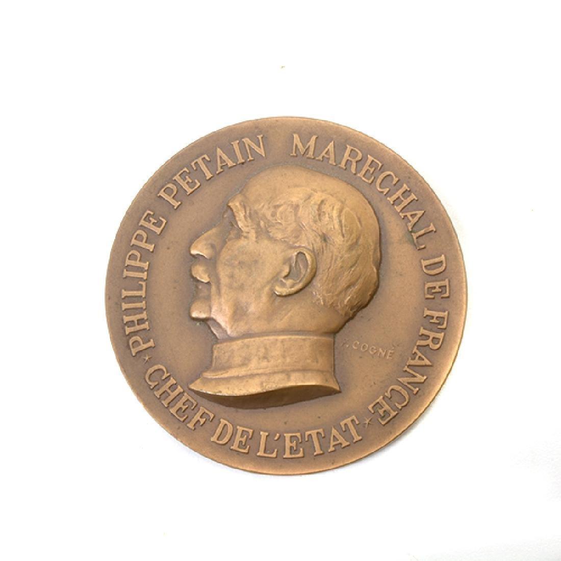 Nine French Commemorative Bronze Medallions - 6