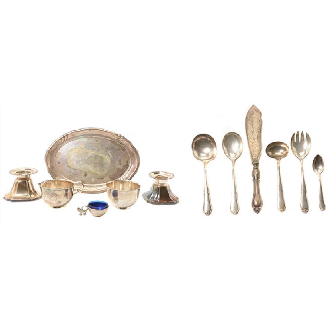 Collection of German Sterling Silver Flatware and Table
