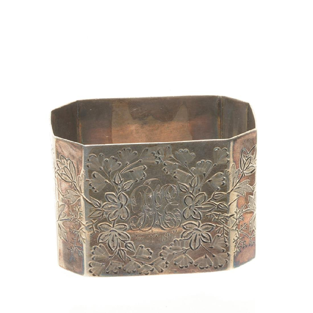 Eleven English Sterling Napkin Rings and Rococo Style - 10