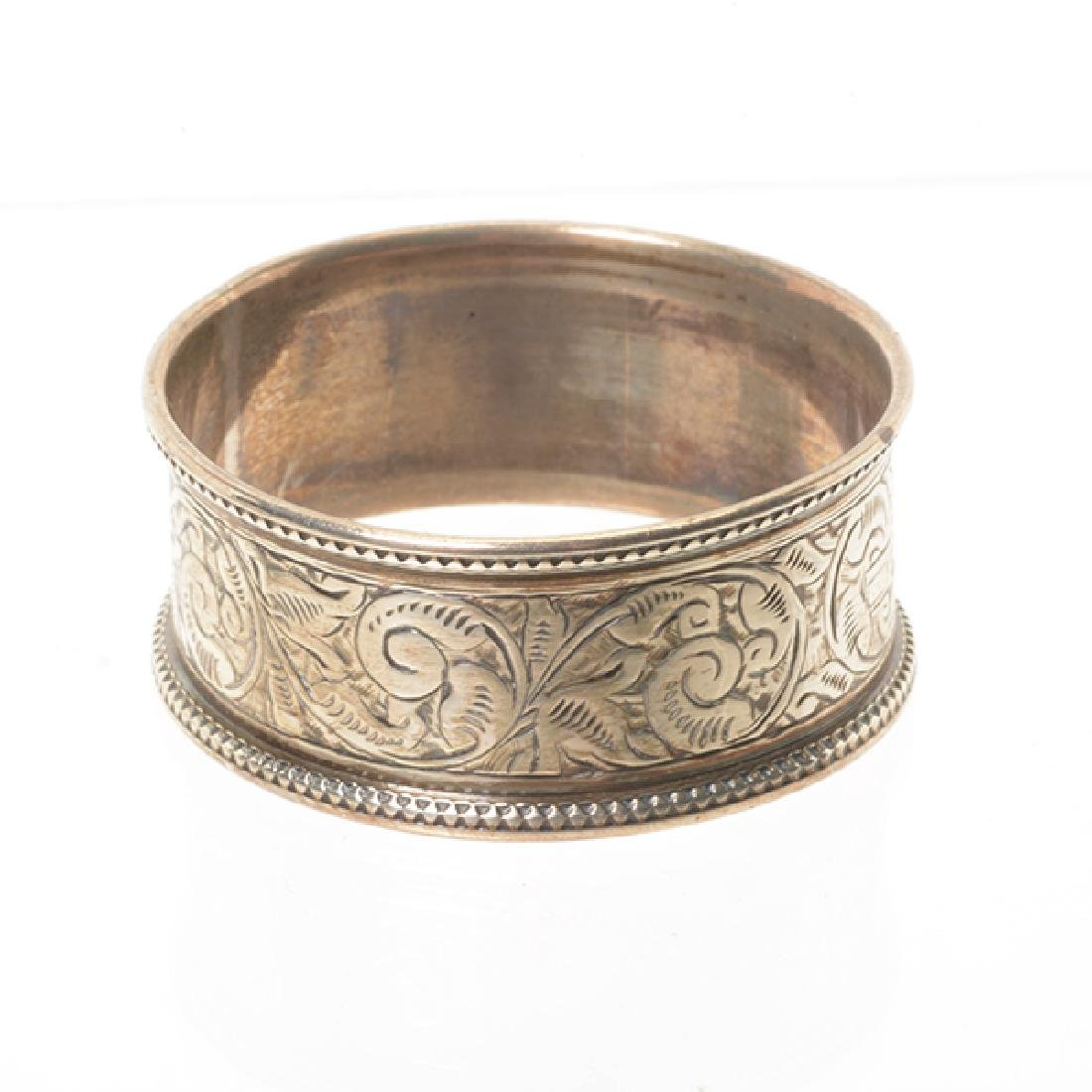 Eleven English Sterling Napkin Rings and Rococo Style - 4