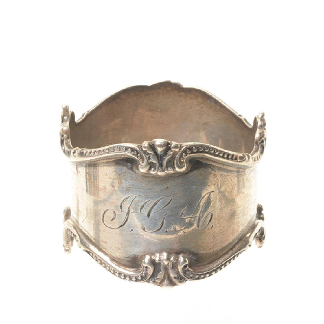 Eleven English Sterling Napkin Rings and Rococo Style - 6