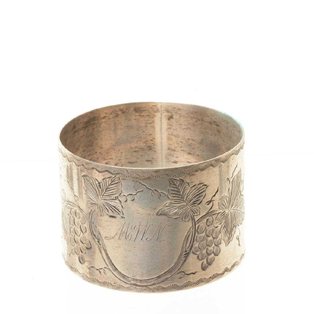 Eleven English Sterling Napkin Rings and Rococo Style - 8