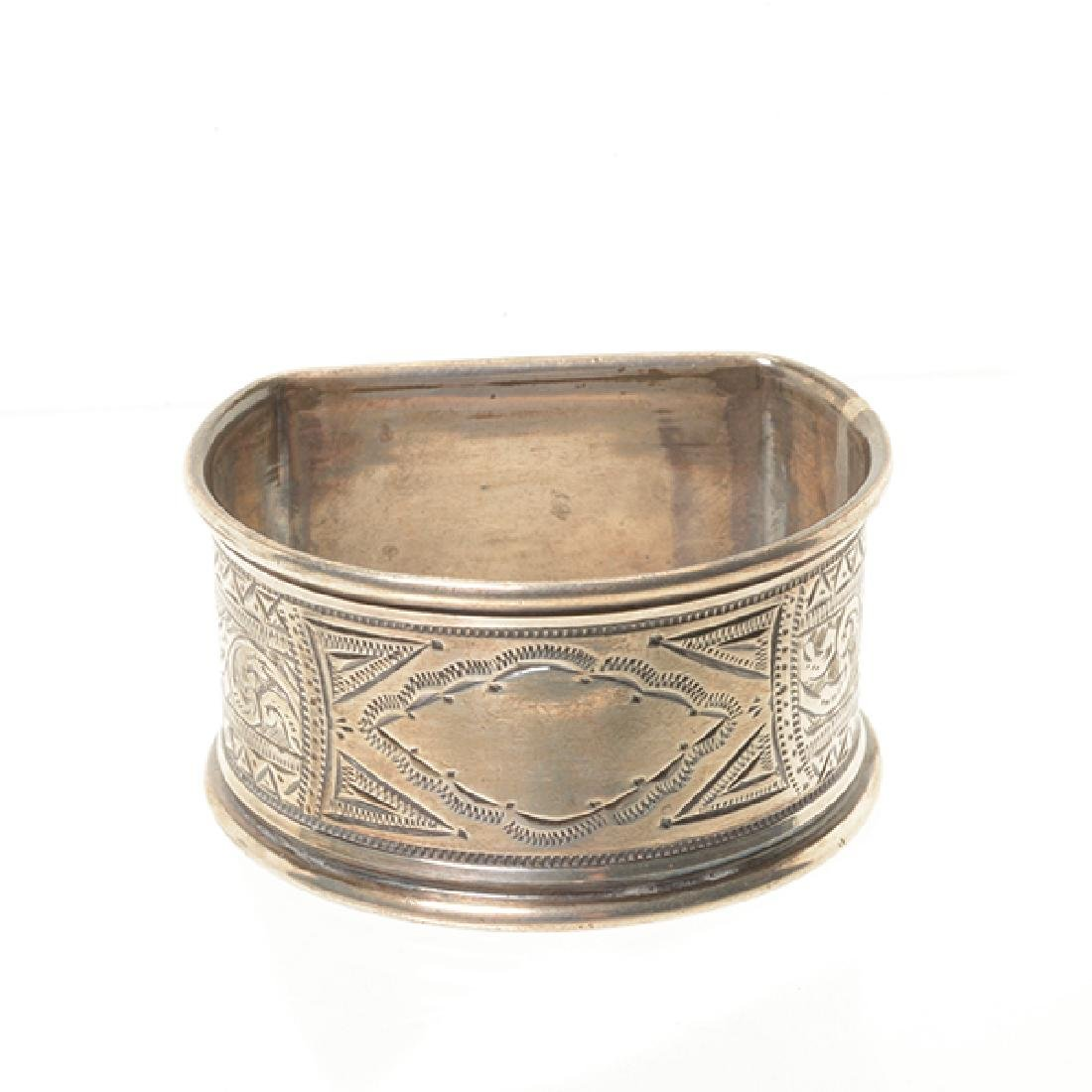 Eleven English Sterling Napkin Rings and Rococo Style - 9