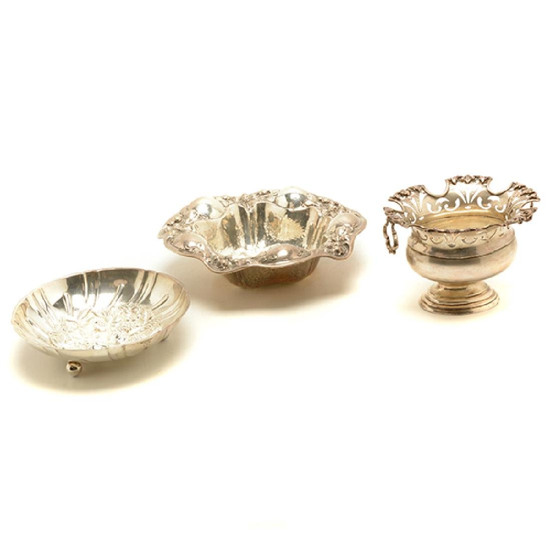 Three Sterling Silver Dishes