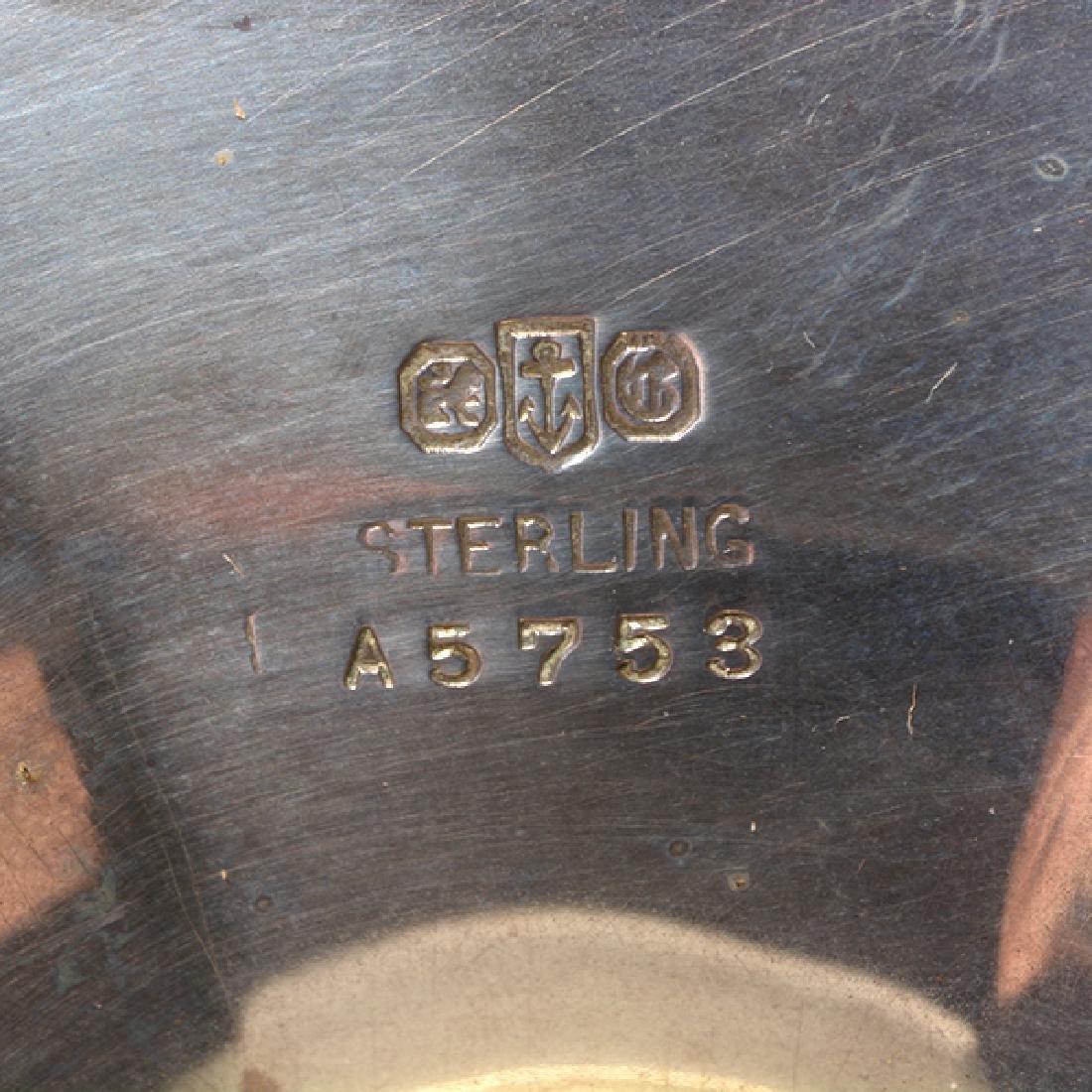Gorham Sterling Octagonal Form Etched Tea Service - 6