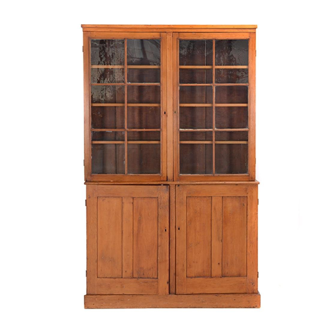 American Federal Maple, Pine, and Walnut Cabinet
