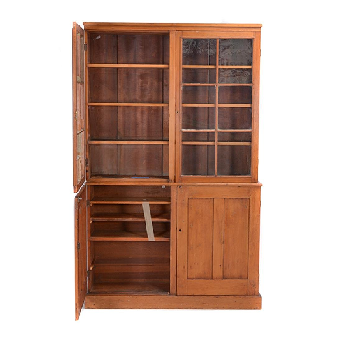 American Federal Maple, Pine, and Walnut Cabinet - 2