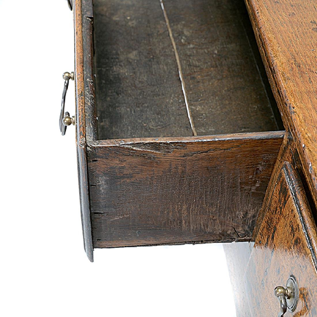 George III Oak Console Table with Three Drawers - 3