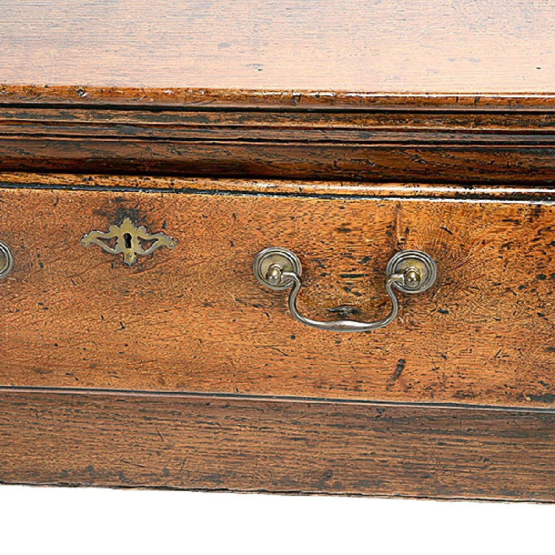 George III Oak Console Table with Three Drawers - 4
