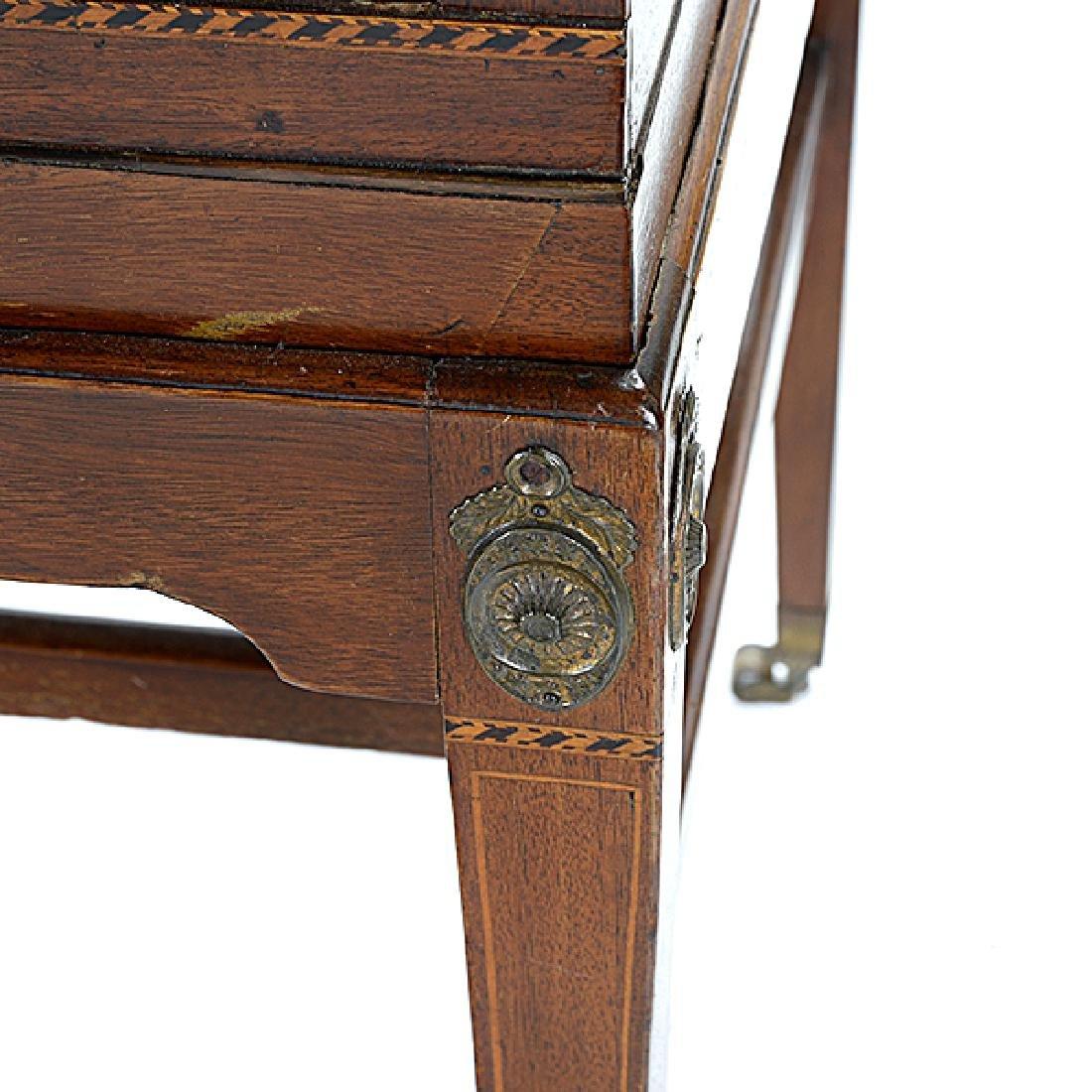George III Style Inlaid Mahogany Desk - 3