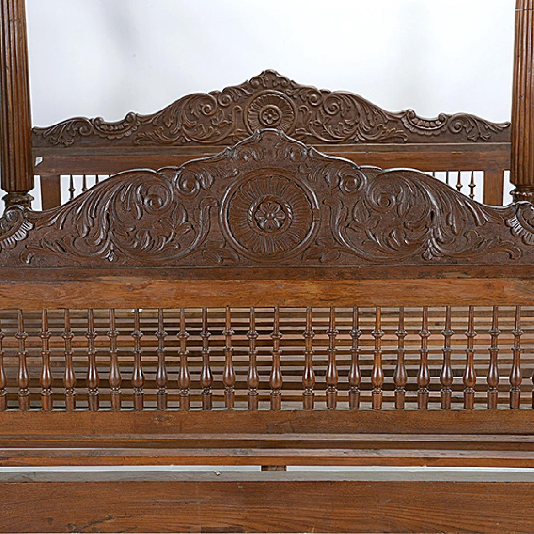 Anglo Indian Queen Size Canopy Bed - 2