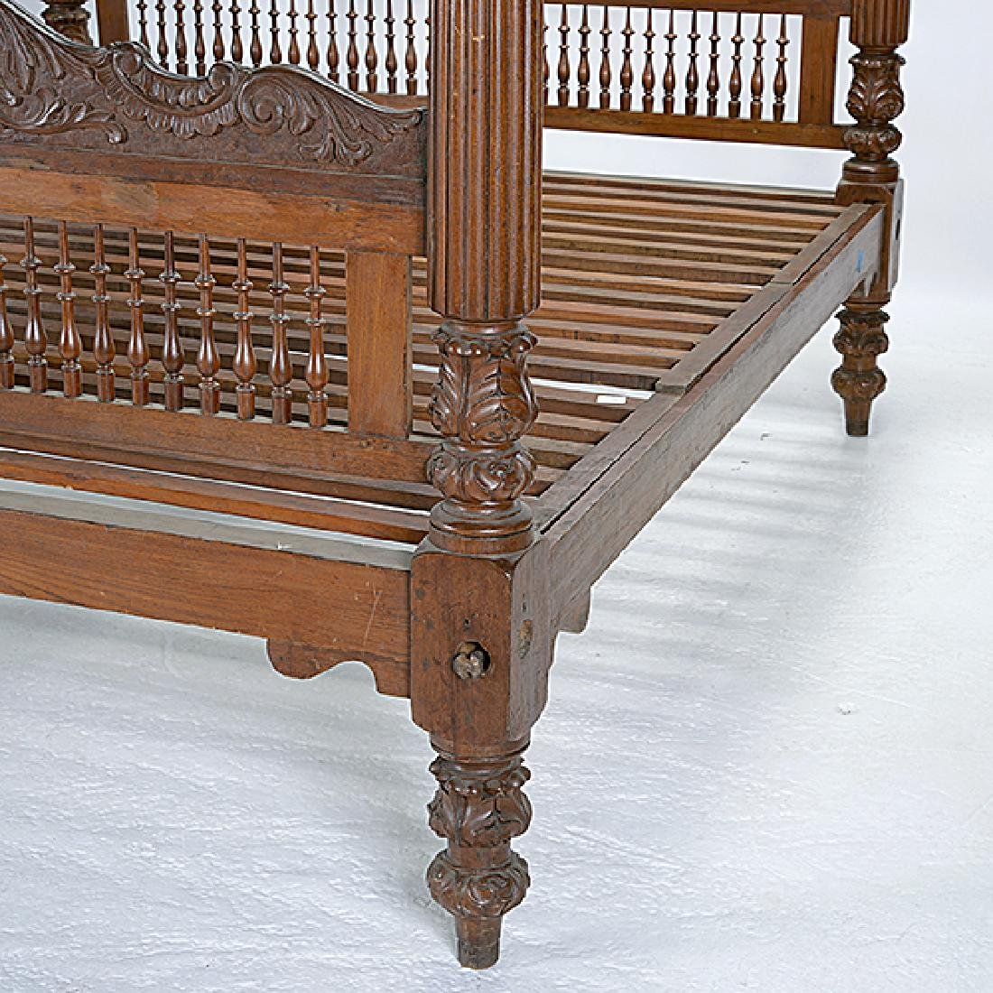 Anglo Indian Queen Size Canopy Bed - 3