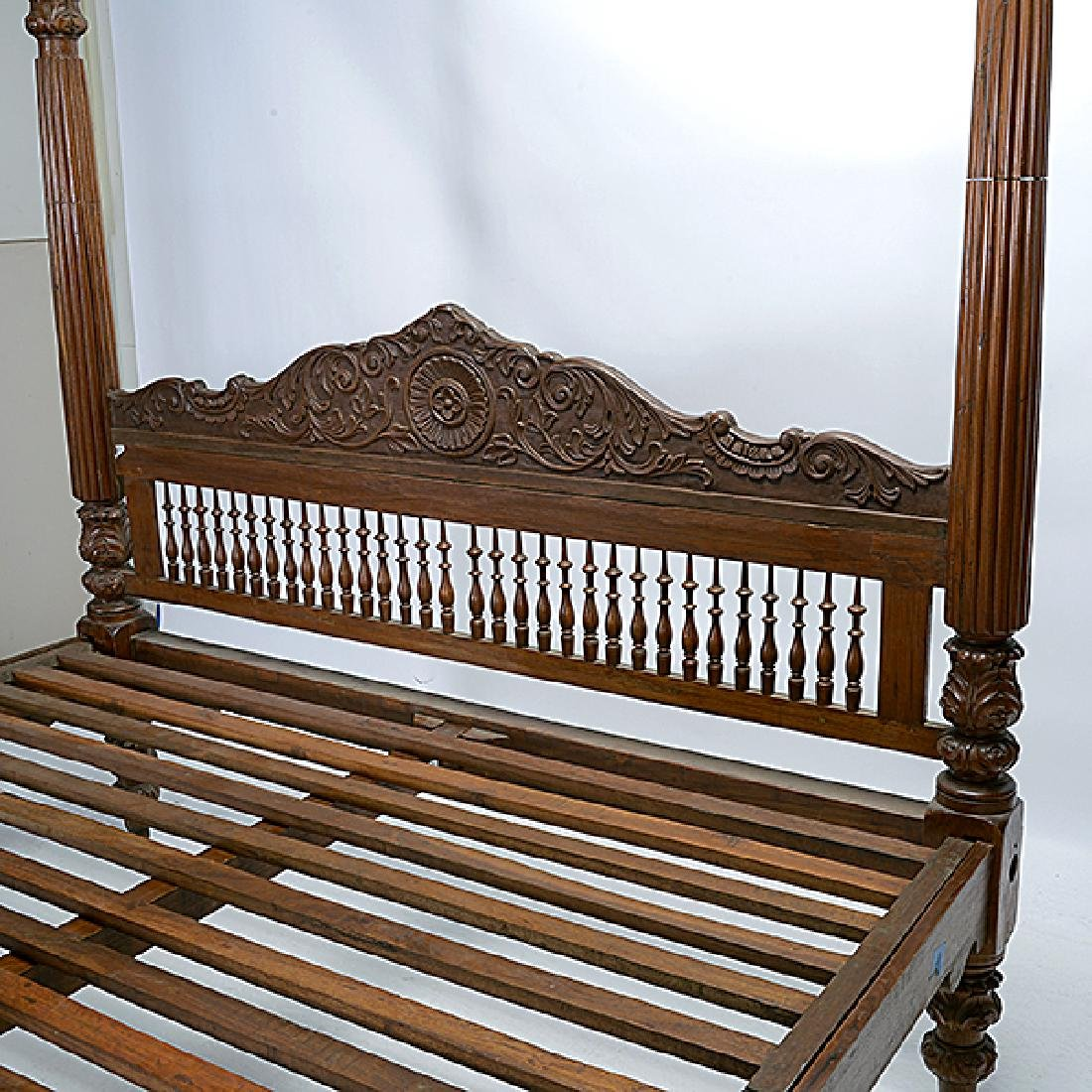 Anglo Indian Queen Size Canopy Bed - 5