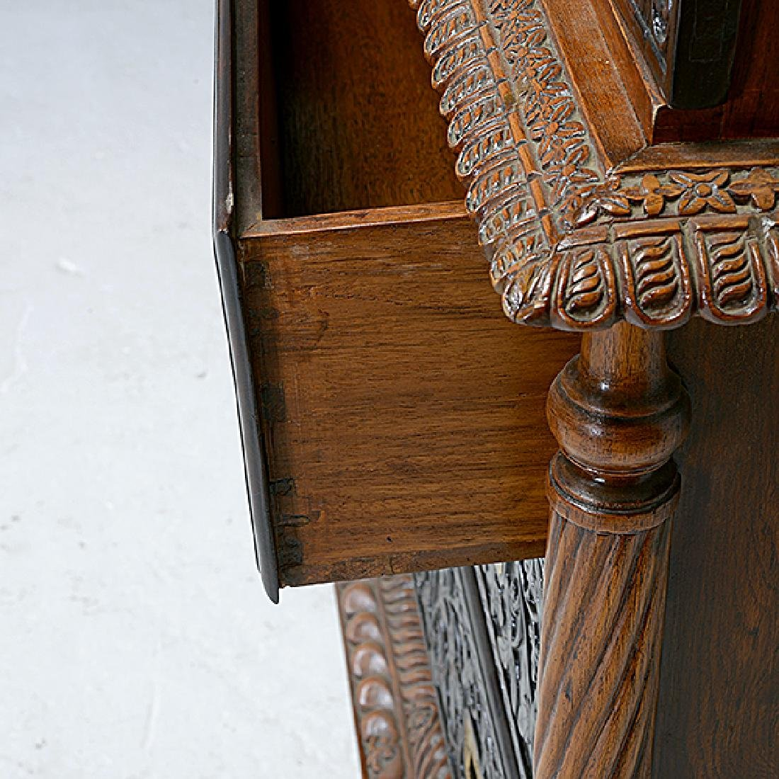 Dutch Colonial Bookcase on Campaign Style Chest - 4