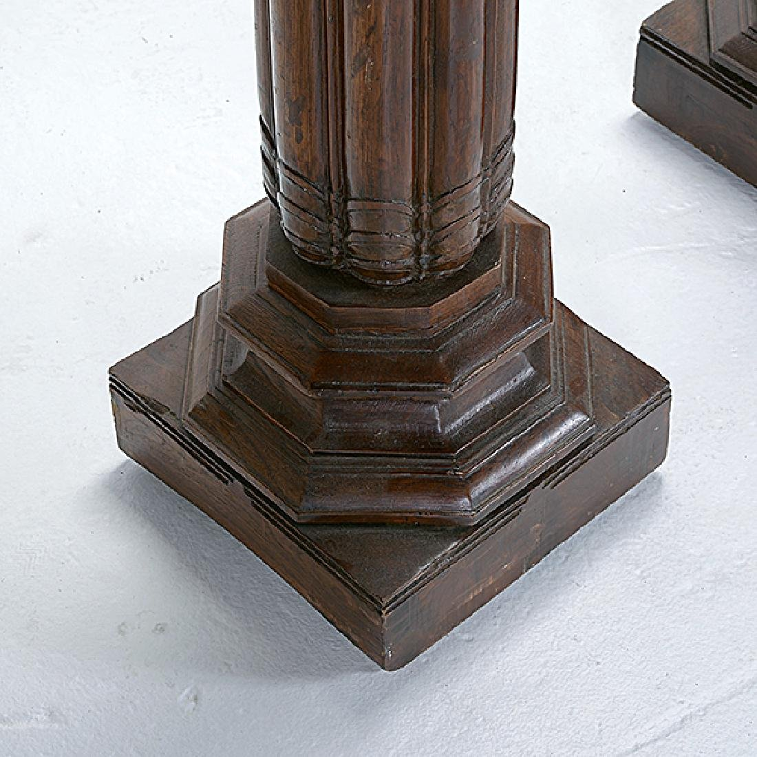 Pair of Anglo Indian Teak Fluted Columns - 2